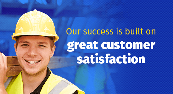 success built on customer satisfaction